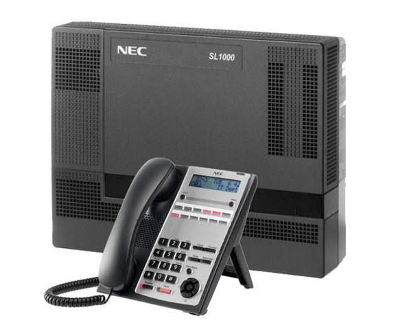 Giải pháp tổng đài điện thoại IP NEC SL1000 gồm 44 trung kế và 112 máy nhánh vctel