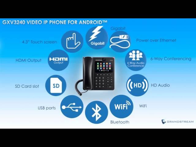 IP Video Phone GXV3240 2 vctel
