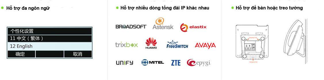 Điện thoại IP giá rẻ chính hãng bảo hành 12 tháng của VCTEL
