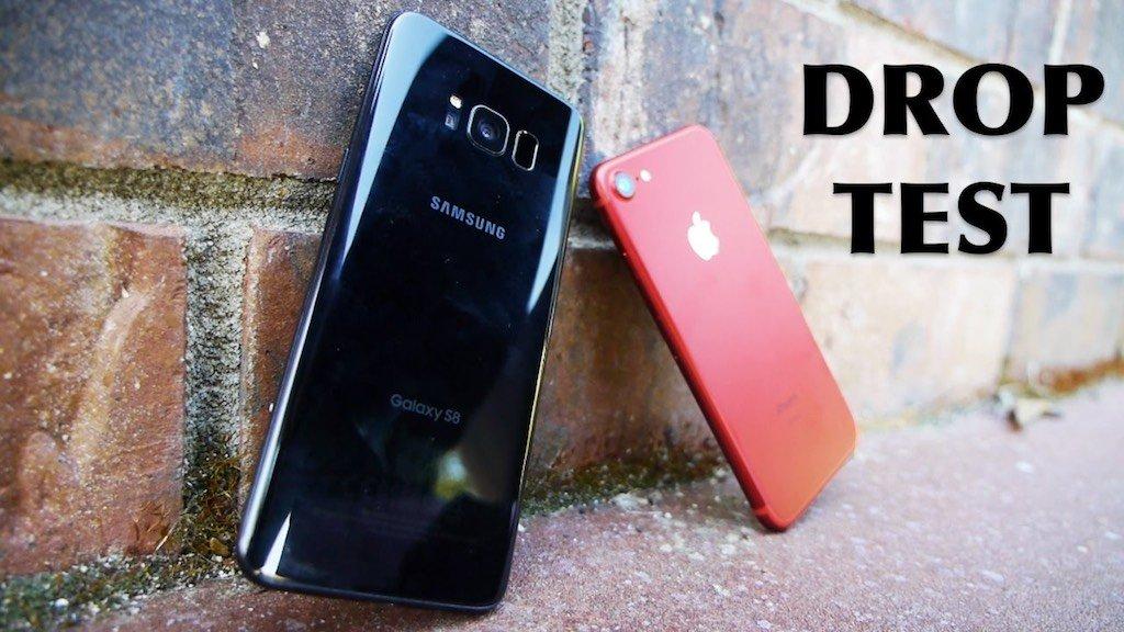 Đọ độ bền của iPhone 7 với Samsung Galaxy S8 vctel