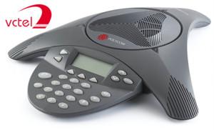 Sản phẩm thiết bị điện thoại hội nghị Polycom SoundStation 2 dùng cho phòng họp vừa và nhỏ, từ 10-15 người vctel