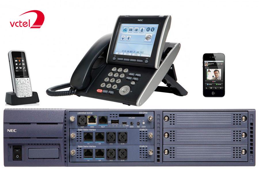 Tổng đài NEC SV8100 16 trung kế 16 - 24 -144 vctel