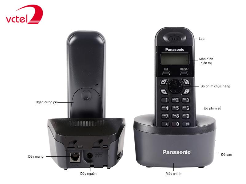 Máy điện thoại kéo dài giá rẻ Panasonic KX-TG1311 bảo hành 12 tháng vctel
