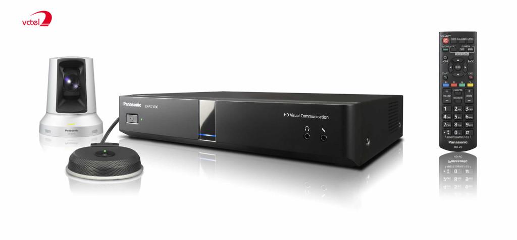 Bộ sản phẩm thiết bị hội nghị trực tuyến Panasonic KX-VC1600 chính hãng vctel