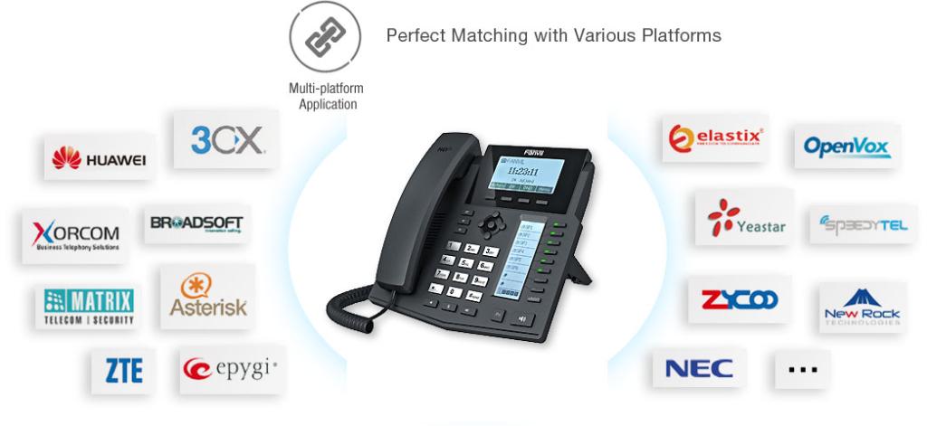 Điện thoại VOIP chính hãng Fanvil X4 vctel