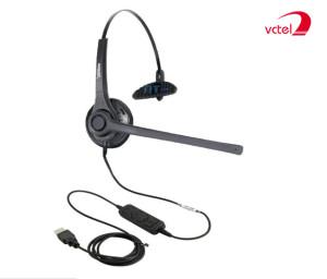 Tai nghe jack USB FreeMate DH-037M chuyên dụng cho Call Center vctel
