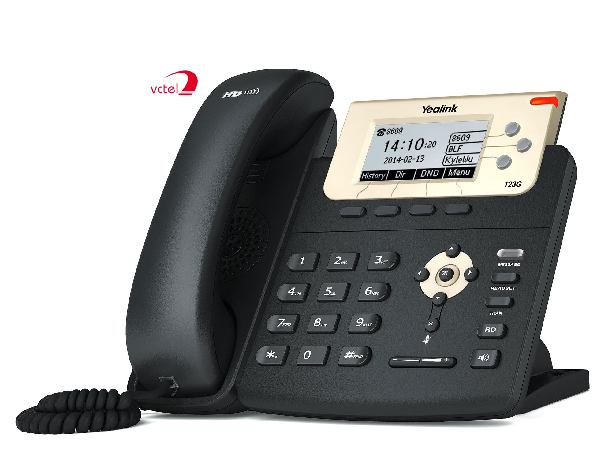 Điện thoại IP để bàn Yealink T23G âm thanh công nghệ HD chính hãng