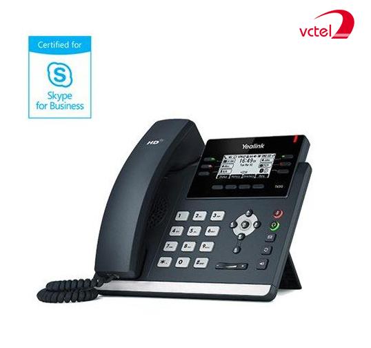 Điện thoại cố định giá rẻ nhất Yealink T41P hỗ trợ Skype cho doanh nghiệp vctel