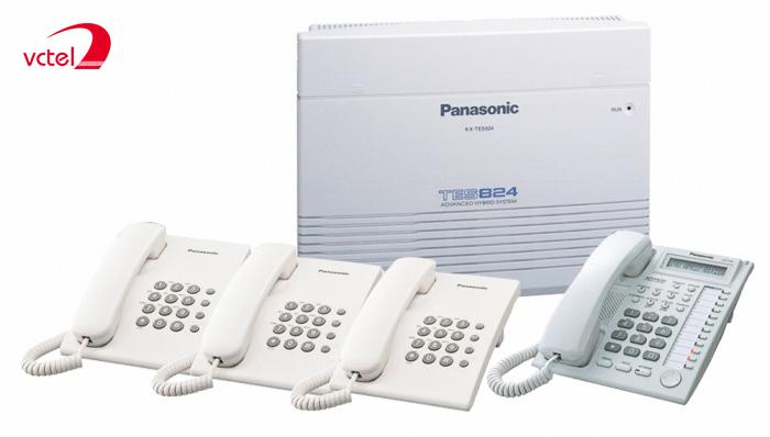 Lắp tổng đài điện thoại cho văn phòng - Panasonic KX-TES824 06 trung kế 16 máy lẻ vctel