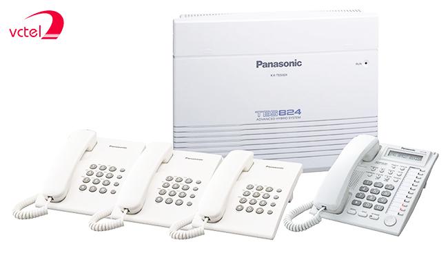 Tổng đài điện thoại bàn Panasonic KX-TES824 03 đầu vào 16 đầu ra vctel