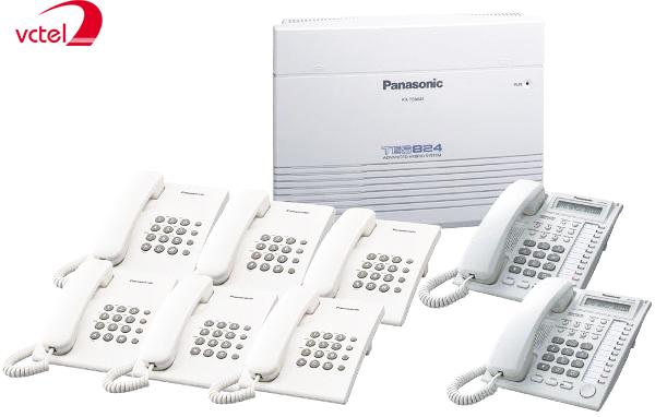 Tổng đài điện thoại Pânsonic KX-TES824 05 trung kế 16 máy lẻ vctel
