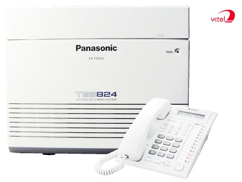 Tổng đài điện thoại Panasonic KX-TES824 cấu hình 06 trung kế 24 máy lẻ vctel