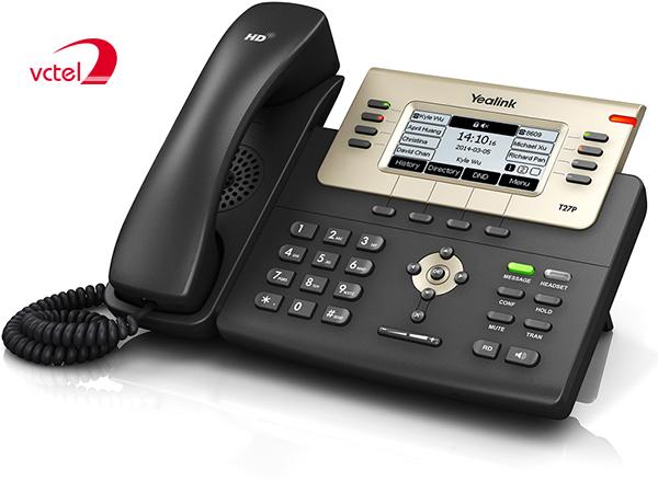 Giá điện thoại bàn Yealink SIP-27P tốt nhất thị trường với thời gian bảo hành 02 năm vctel