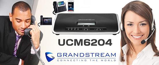 Lắp đặt tổng đài điện thoại ở Lào Cai - Tổng đài Grandstream UCM6204 vctel