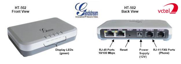 Bộ chuyển đổi VOIP Grandstream HT502 bảo hành 12 tháng vctel