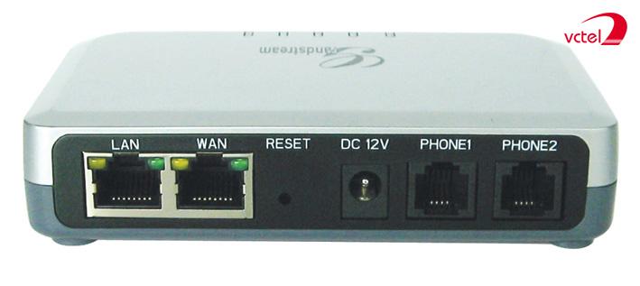 Bộ chuyển đổi VOIP Grandstream HT502 hỗ trợ kết nối chuẩn SIP vctel