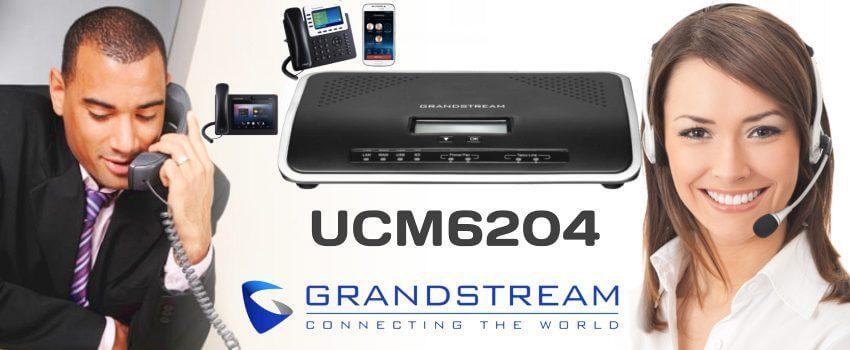 Lắp đặt tổng đài điện thoại ở Quảng Nam - Tổng đài Grandstream UCM6204 vctel