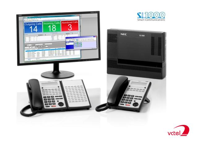 Lắp đặt tổng đài điện thoại ở Sapa - Tổng đài NEC SL1000 vctel