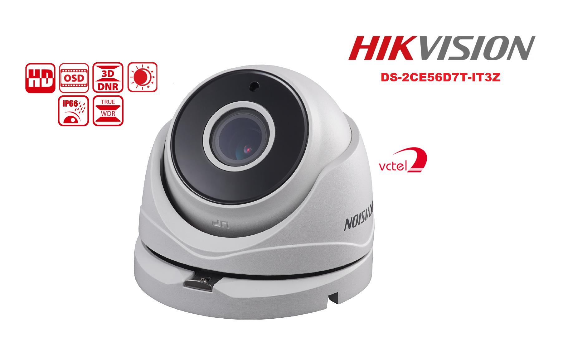 Camera Hikvision DS-2CE56D7T-IT3Z hình ảnh HD siêu nét vctel
