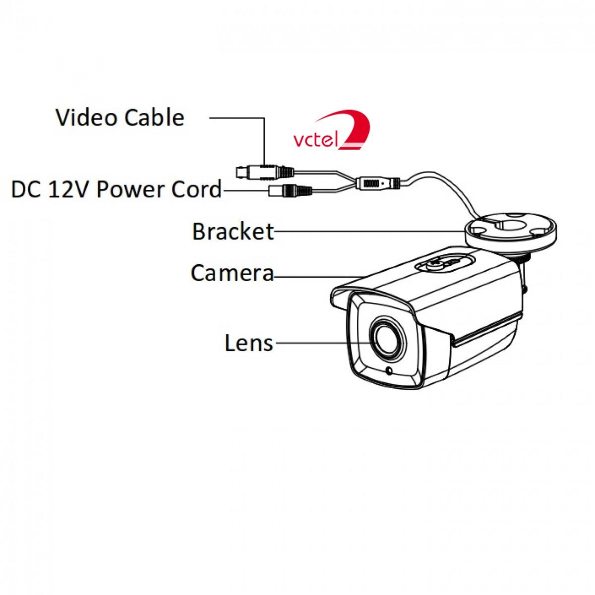 Cấu tạo của Camerai Hikvision DS-2CE16D7T-IT vctel