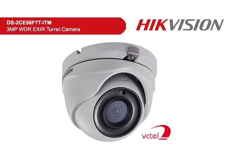 Camera có hồng ngoại theo dõi an ninh Hikvision DS-2CE56F7T-ITM vctel