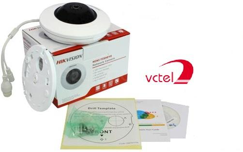 Trọn bộ sản phẩm Camera IP mắt cá Hikvision DS-2CD2955FWD-I vctel lapdattongdaigiare