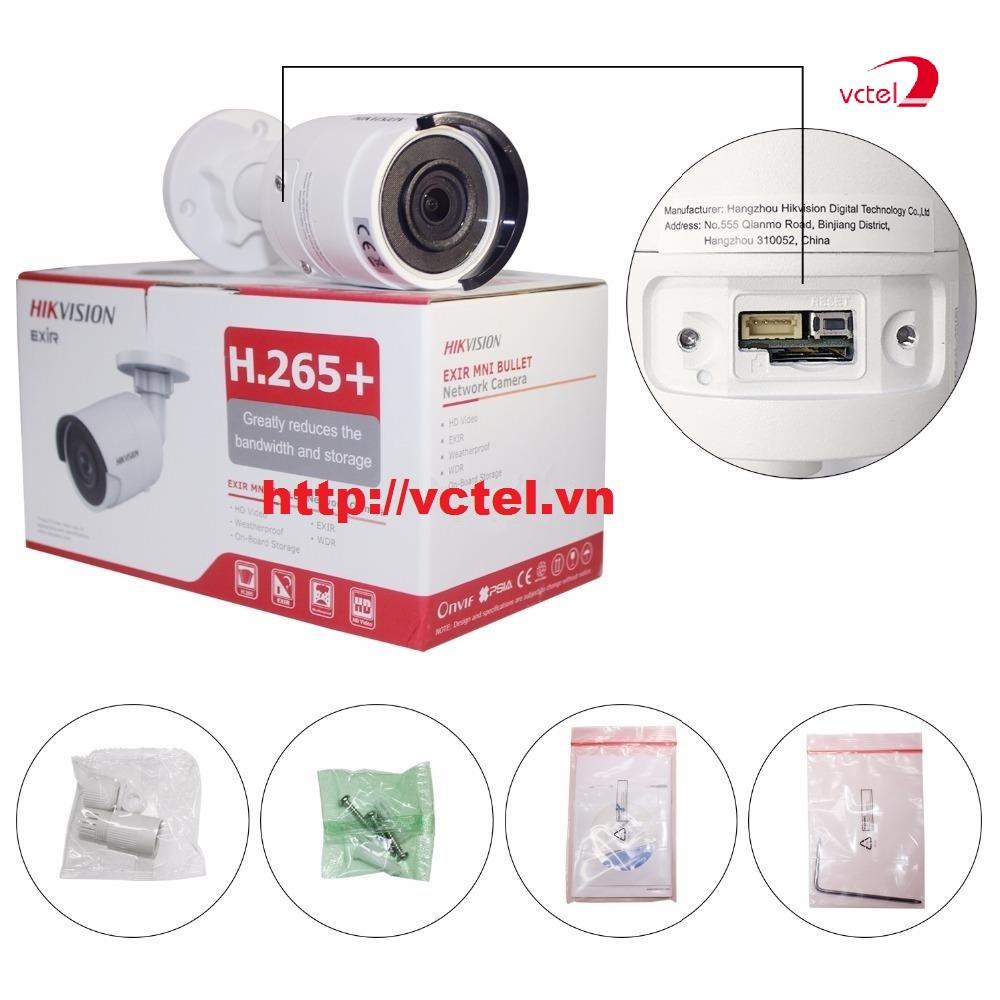 Bộ sản phẩm Camera giám sát an ninh ngoài trời Hikvision DS-2CD2055FWD-I vctel
