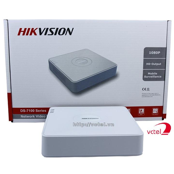 Đầu ghi hình cho camera Hikvision DS-7104H-F1 bảo hành 12 tháng Vctel