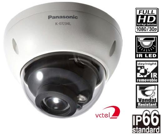 Camera bán cầu IP Panasonic K - EF234L03 hình ảnh full HD vctel