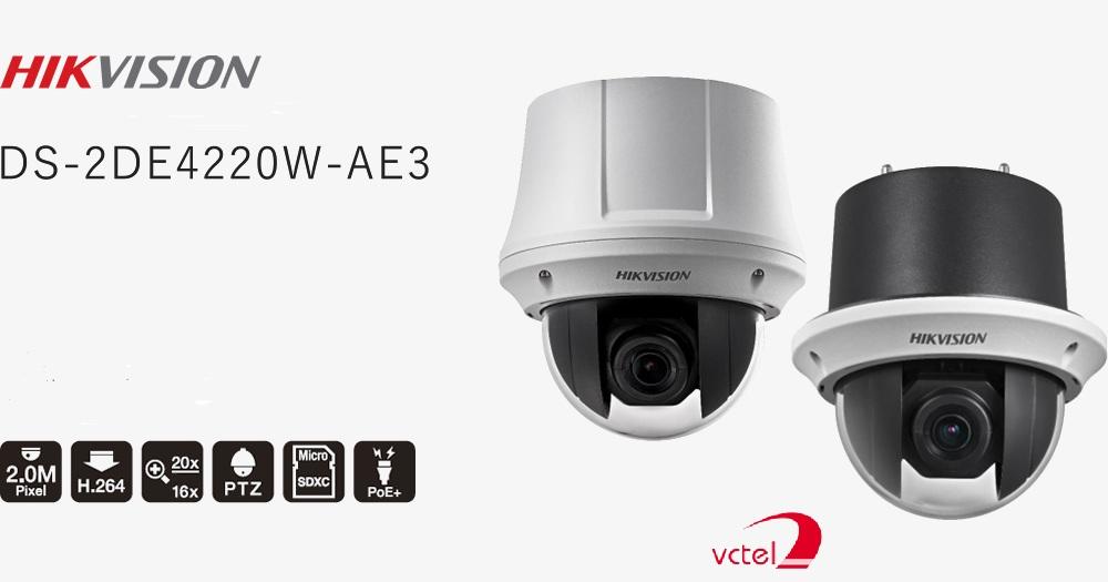 Camera quay quét Hikvision DS-2DE4220W-AE3 bảo hành 12 tháng vctel
