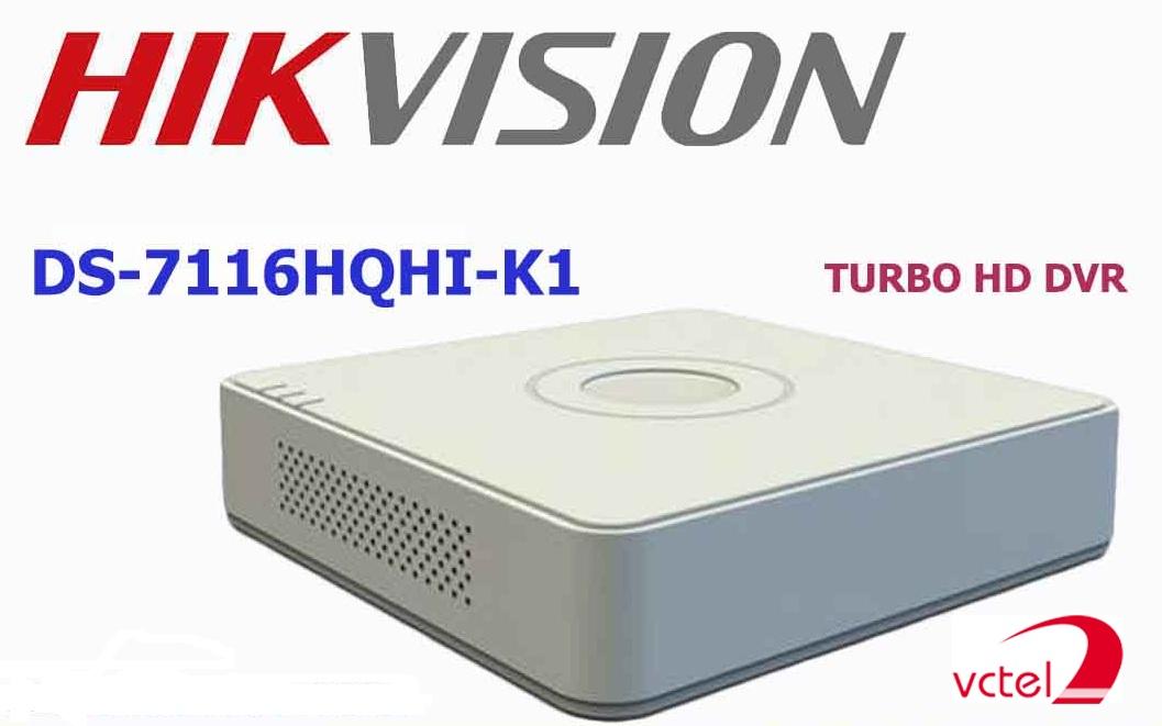 Đầu ghi hình camera Hikvision DS-7116HQHI-K1 bảo hành 12 tháng vctel