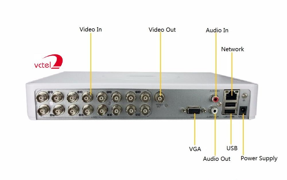 Đầu ghi Camera Hikvison DS-7116HGHI-F1/N hỗ trợ kết nối 16 kênh vctel