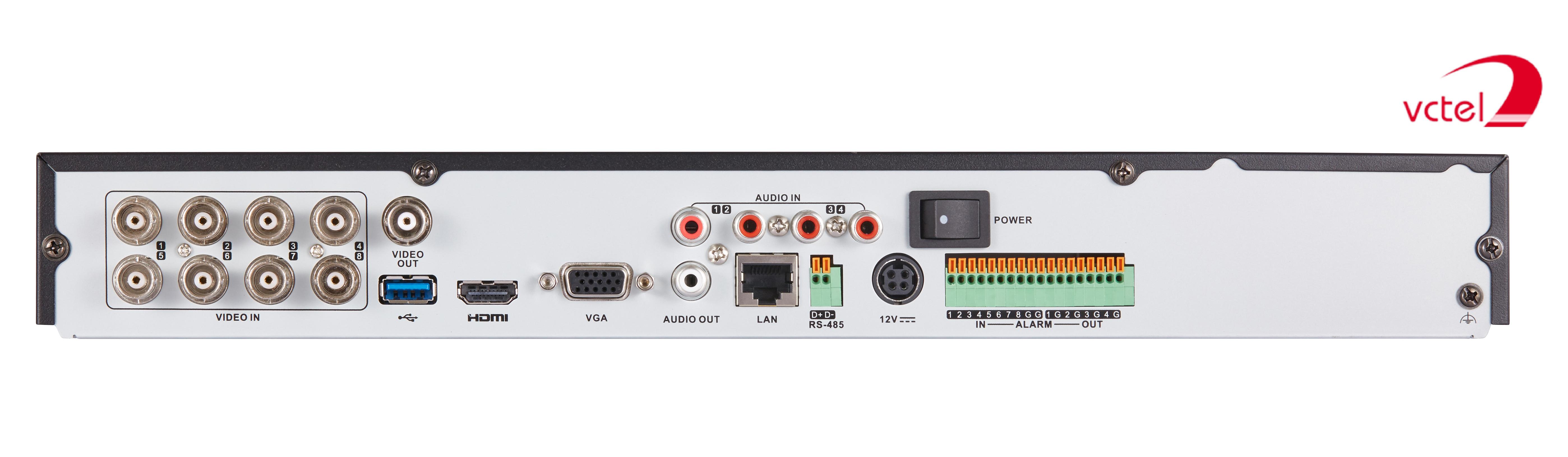Đầu ghi hình Hikvision DS-7208HUHI-K2 kết nối 8 kênh vctel