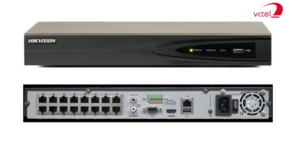 Đầu ghi Camera IP Hikvision DS-7616NI-E1 Hỗ trợ 16 kênh vctel