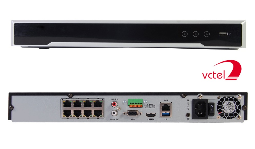 Đầu ghi camera IP Hikvision DS-7608NI-K2/8P chính hãng vctel