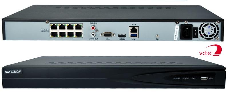 Đầu ghi hình Camera IP Hikvision DS-7608NI-E2/8P hỗ trợ kết nối PoE vctel