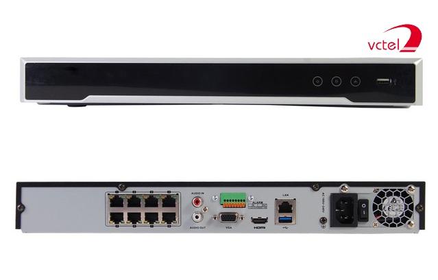 Đầu ghi camera IP Hikvision DS-7608NI-K2 bảo hành 12 tháng vctel