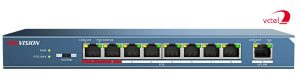 Switch 8 cổng Hikvision DS-3E0109P-E kết nói 8 PoE VCTEL