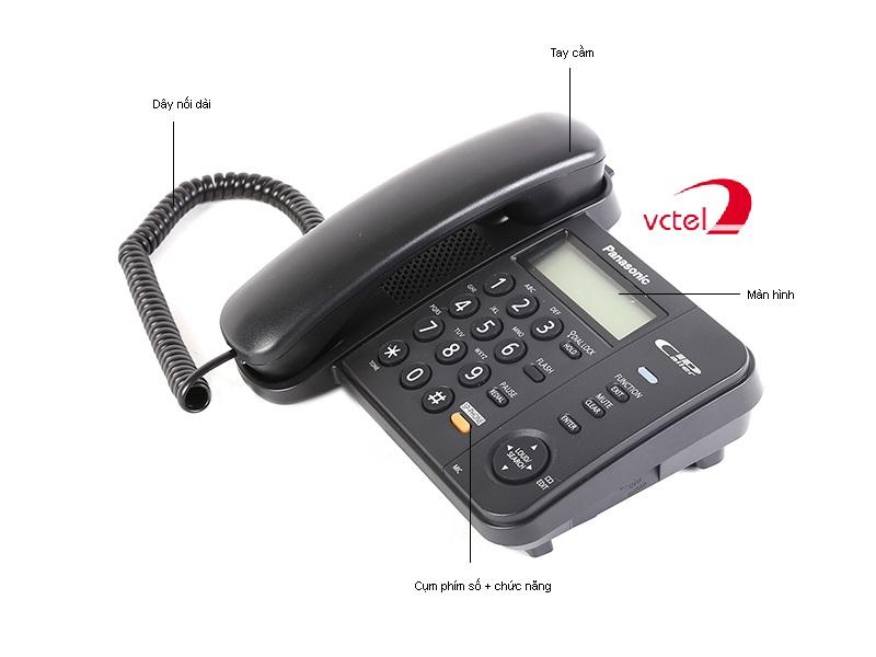 Điện thoại Panasonic KX-TS580 thiết kế đơn giản dễ sử dụng vctel
