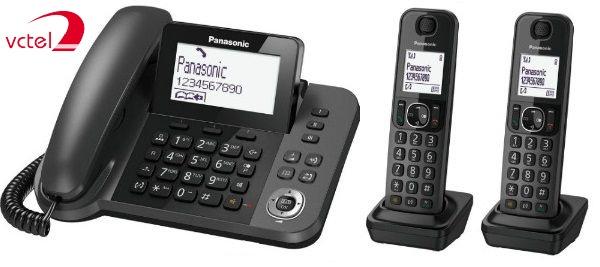 Điện thoại kéo dài mẹ con Panasonic KX-TGF312 kết nối 2 tay con v