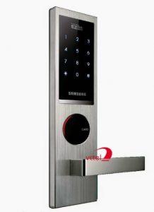 Khóa cửa điện tử dùng mật mã Samsung SHS H635 chính hãng vctel